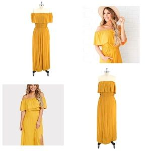 Evereve NWT Anama Off-The-Shoulder Strapless Maxi